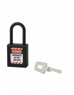 Cadenas de consignation LOTO Lockout Tagout 40 mm anse nylon Ø 6 x 38 mm noir