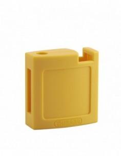 Ensemble coque abs av + ar jaune pour cadenas m3 - 40 mm