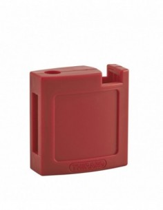 Ensemble coque abs av + ar rouge pour cadenas m3 - 40 mm