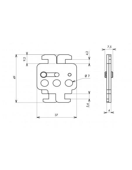 Double verrouillage disjoncteur boîtiers moulés 3 trous