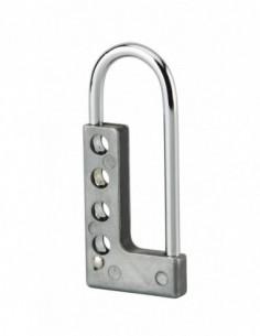 Moraillon en aluminium pour 4 cadenas
