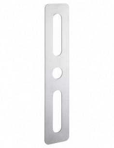 Plaque de proprete 60x302 mm rectangulaire inox brosse
