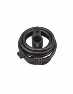 Antivol à câble Ø 10 longeur 1,80 m à combinaison modifiable avec support