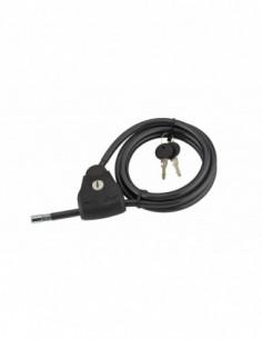 Cable Ø 10 longeur 1,80 m ajustable, 2 clés