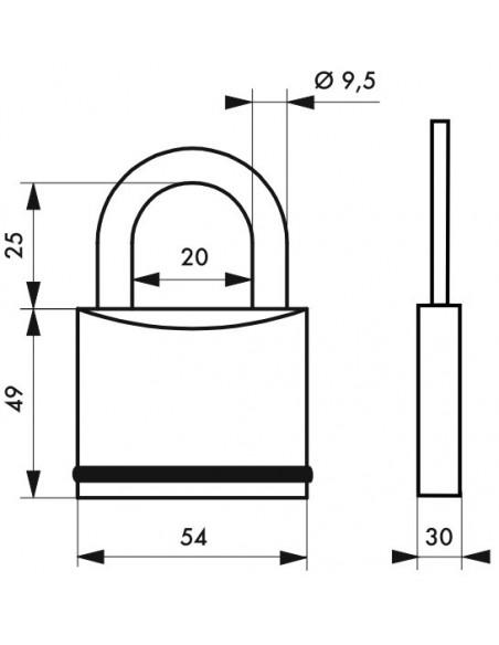 Cadenas à clé 720 - 54 mm