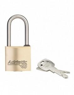 Cadenas à clé ADRIATIC - 40 mm anse 1/2 haute