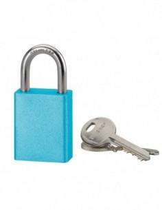 Cadenas à clé COBBLE 38 mm bleu