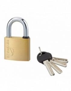 Cadenas à clé REVERSO 50 mm 4 clés réversibles