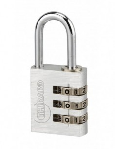 Cadenas à clé TYPE 1 aluminium code 30 mm gris