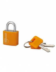 Cadenas à clé TYPE 1 aluminium color 20 mm orange