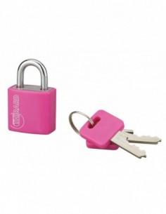 Cadenas à clé TYPE 1 aluminium color 20 mm rouge