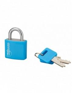 Cadenas à clé TYPE 1 aluminium color 30 mm bleu