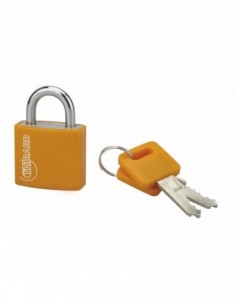 Cadenas à clé TYPE 1 aluminium color 30 mm orange