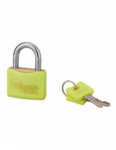 Cadenas à clé COLOR jaune 40 mm