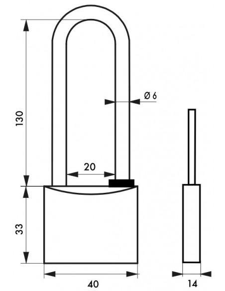 TYPE 1 - 40 mm anse haute