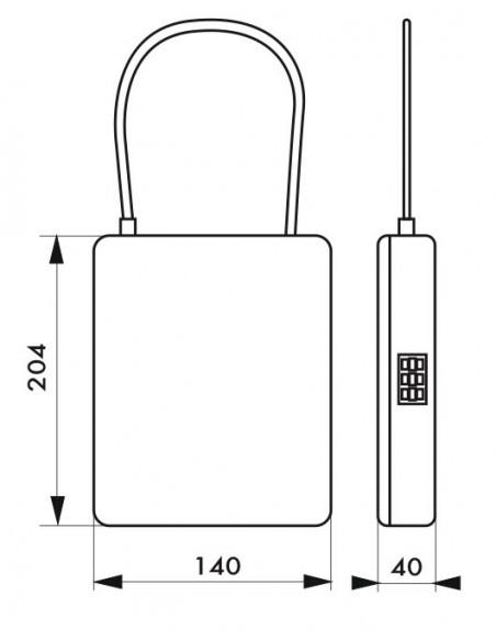 Coffret de sécurité avec câble àcombinaison modifiable