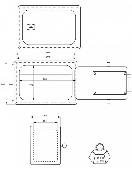 Coffre-fort BRAN 2 - 4 pênes