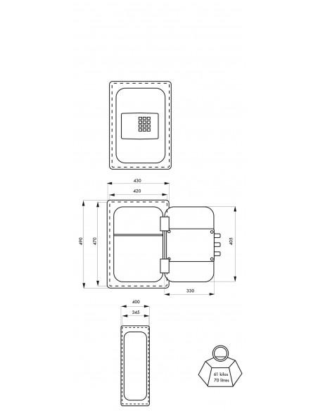 Coffre-fort RIVOLI 7 pênes