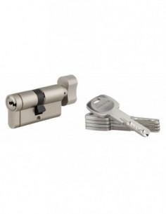 Cylindre bouton 30x30 mm 5 clés longues fonction urgence