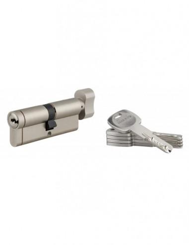 Cylindre bouton 40x40 mm 5 clés longues fonction urgence