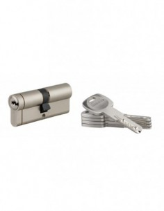 Cylindre 40x40 mm 5 clés longues fonction urgence
