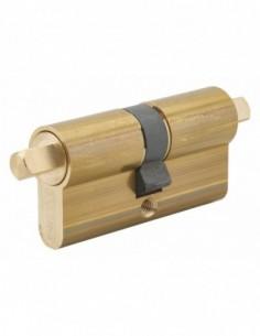 Cylindre profilé double carré exterieur 7mm 30x30 laiton