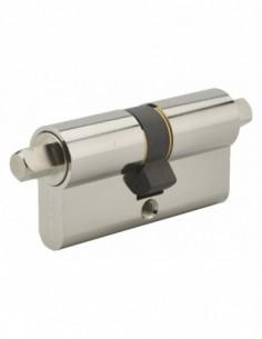 Cylindre profilé double carré exterieur 7mm 30x30 nickele