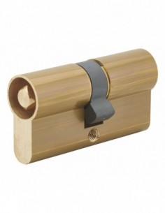 Cylindre profilé double carré interieur 7mm 30x30 laiton