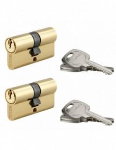Coque de 2 cylindres 30 x 30 mm s'entrouvrant 6 clés