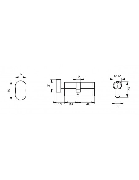 Cylindre profile hg5+ 35btx40 nick 3cl