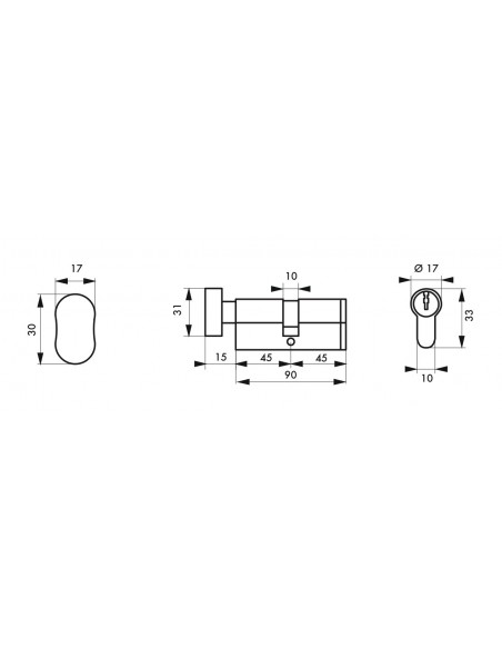 Cylindre profile hg5+ 45btx45 nick 3cl
