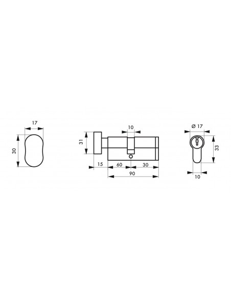 Cylindre profile hg5+ 60btx30 nick 3cl