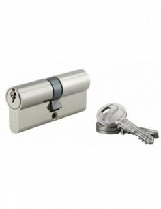 Cylindre 35 x 35 mm 3 clés nickelé