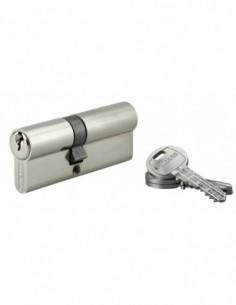 Cylindre 35 x 45 mm 3 clés nickelé