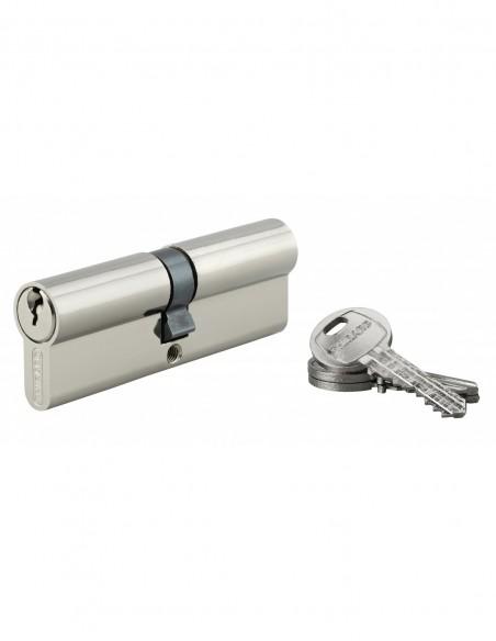Cylindre 45 x 45 mm 3 clés nickelé