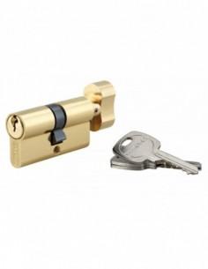 Cylindre à bouton 30 x 30 mm 3 clés