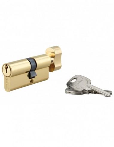 Cylindre à bouton 30 x 40 mm 3 clés