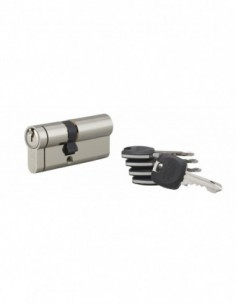 Cylindre hg5+ 40x30mm snap côté 30 mm nickelé 5 clés