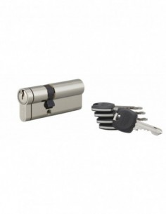 Cylindre hg5+ 45x30mm snap côté 30 mm nickelé 5 clés