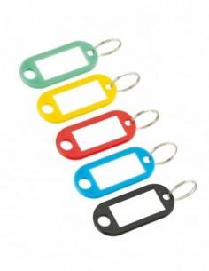 Anneau porte-étiquette couleurs assorties (2 pèces sous coque)