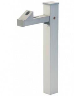 Arrêt de portail vertical aluminium anodisé