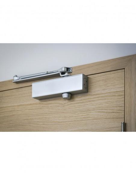 Ferme-porte hydraulique design réversible argent avec bras standard force 3
