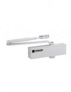 Ferme-porte hydraulique design réversible blanc avec bras standard force 2 à 4