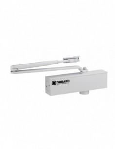 Ferme-porte hydraulique design réversible blanc avec bras standard force 3