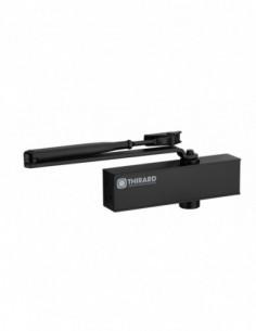 Ferme-porte hydraulique design réversible noir avec bras standard force 2 à 4