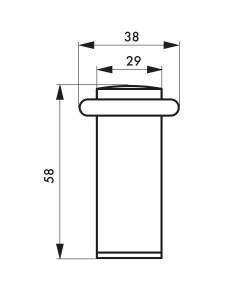 Butoir de sol Ø 29 mm hauteur 58 mm