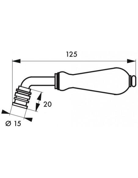 Bequille double carré 7mm 2 portées