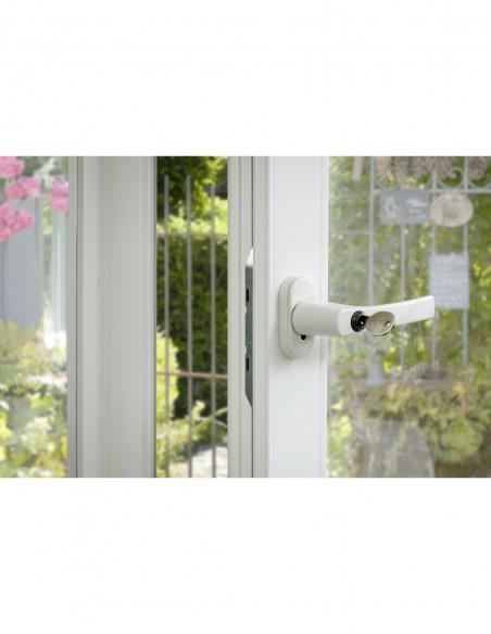 Bequille fenêtre laqué blanc à clé
