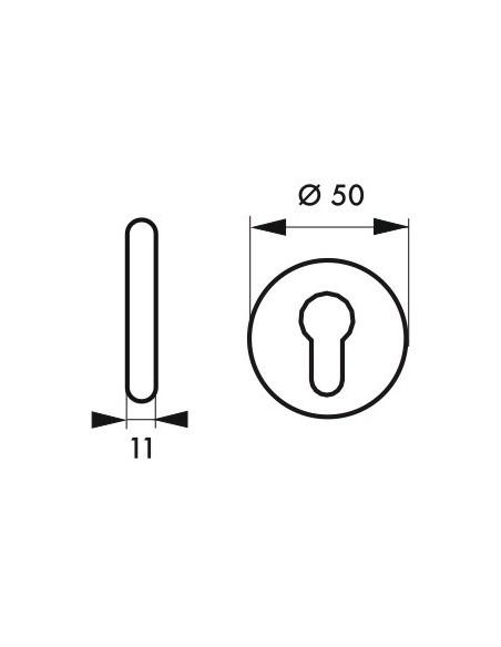 Rosace blanc trou de cylindre (la paire)