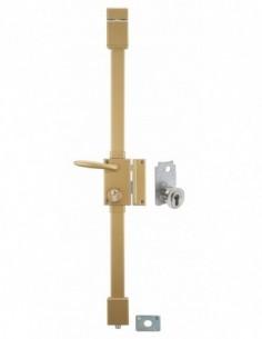 targa bronze cp transit 2 porte ép.50 à fouillot 75 x 130 mm droite 4 clés